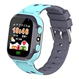 Dserw Smart Watch 2G Call Touch Screen 2MP Camera Tracking Location Soft Waterproof Quick Release Children Kids Wristwatch - Blue
