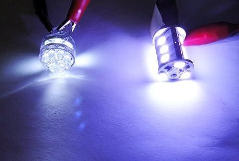 LEDIN 1157 SAMSUNG 12 SMD LED Front Turn Signal Light 2357 7528 BAY15d White 7000K (71 Chevelle Led Tail Lights)