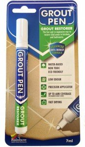 Grout Pen White - Ideal to Restore the Look of Tile Grout (Leaf Tile)