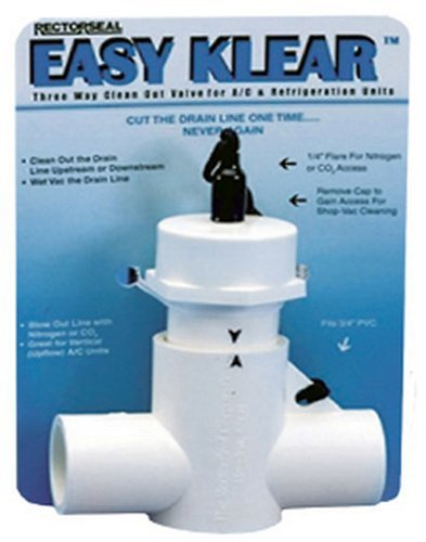 Rectorseal 97585 Easy Klear 3-Way Condensate Line Cleanout Valve by The Rectorseal Corporation
