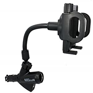 Xenda Universal Charging Car Mount Phone Holder with Dual USB Ports and Charger Socket for AT&T Samsung Galaxy i7500 - Samsung Captivate i897 - Samsung Focus i917 - Samsung Infuse 4G i997 - Samsung Rugby 3