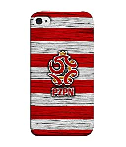 Colorking Football Poland 10 Multicolor shell case cover for 1ple iphone 5 / 5s / SE