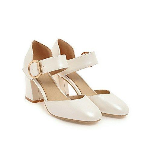 ASL05428 Femme Compensées Sandales Blanc 36 5 Blanc BalaMasa dg7qxd