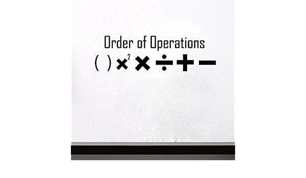 Xbwy Símbolos Matemáticos Pegatinas De Pared Habitación De Los ...