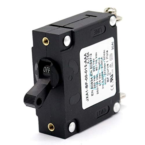 T Tocas Toggle Single Pole Hydraulic Magnetic Circuit Breakers AC or DC 80V for Boat Powerboat RV Yacht (15A)