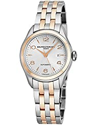 Baume & Mercier Clifton Womens Two Tone Automatic Watch - 30mm Analog Silver Face Swiss Luxury Dress Watch For...