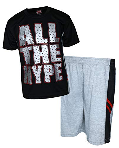 Mad Game Boys 2-Piece Basketball Performance Short Sleeve T-Shirt and Shorts Set (Black Hype, 3T)' ()