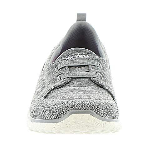 Skechers topnotch Donna Infilare Microburst Grey Sneaker wZx7Rq