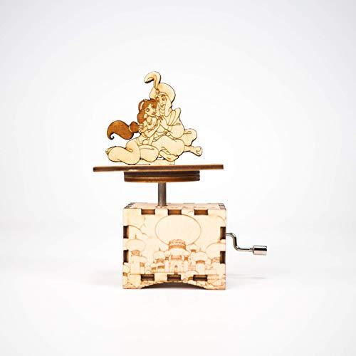 Aladdin Music box - A whole new world - Personalized gift - Hand cranked mechanism