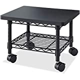 PC Printer Stand Rolling Mobile Small Desk Office Metal Compact Corner Portable Home Work Office Furniture & eBook by Easy2Find