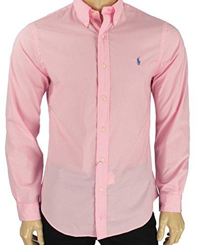 RALPH LAUREN Mens Poplin Slim Fit Button-Down Shirt Pink XL