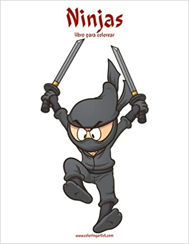 Ninjas libro para colorear 1 (Volume 1) (Spanish Edition ...