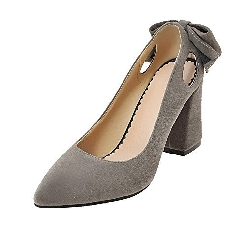 Women's High Solid On Gray Heels Pull Shoes Closed Toe Frosted WeiPoot Pumps dqpyt4dK