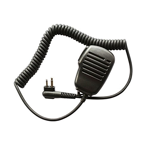 Haito a prueba de lluvia 2-Pin hombro altavoz remoto Micr/ófono PTT para Motorola Radio PMR446 PR400 Mag One BPR40 A8 EP450 AU1200 etc.