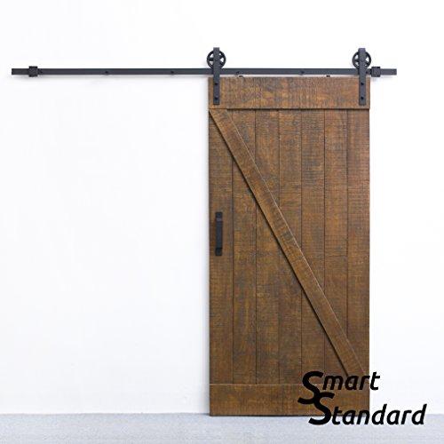Smartstandard 8 Ft Sliding Barn Door Hardware Black Big