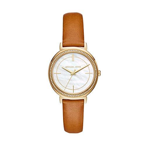 Michael Kors Women's Cynthia Brown Leather Watch MK2712