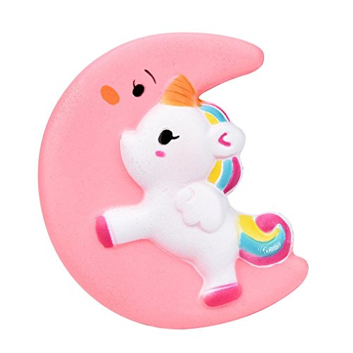 Cream Toy (Squishy Cute Moon Unicorn Scented Cream Slow Rising Squeeze Decompression Toys Rare Fun Toy for Collection Gift)