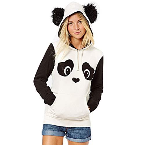 b1f3ab2c MIOIM Women Panda Element Hoodies Sweatshirt Jumper Hooded Pullover Outwear  Top