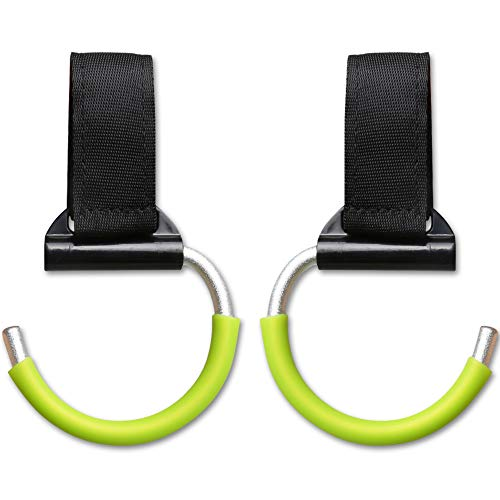 Stroller Hooks Pack of 2 - Unbreakable Aluminum Multi Purpose Hangers for Buggy, Car Seat Headrest & Wheelchair - Clips for Diaper Bags, Purses and Handbags - Baby Gift (Best Bob Diaper Bags)