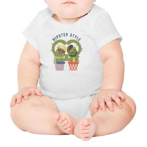 lsawdas Loving Couple Hipster Cactus Unisex Baby Cotton Short Sleeve Cute Baby Clothes Baby Onesies by lsawdas
