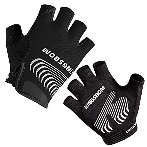 Guantes de ciclismo c/ almohadilla  gel de silicona Negro XL