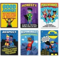 Creative Teaching Press Superhero Character Ed, Inspire U Poster 6 Pack (5649)