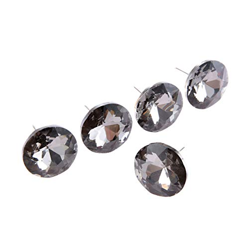 5pcs Gray Victorian Style Diamond Crystal Upholstery Sofa Headboard Sew Buttons Wall Decor 30mm/1.18