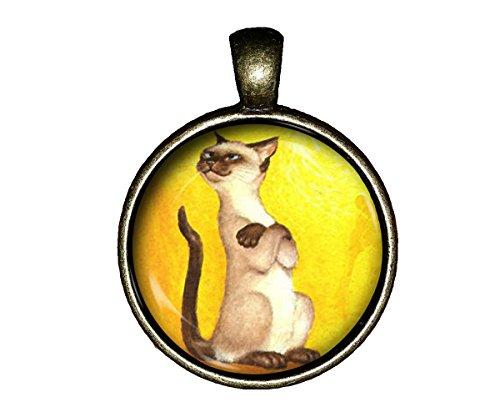 (Siamese cat Necklace kitch Retro Attitude Jewelry Pendant Charm Gifts)