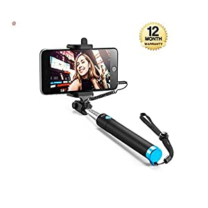 Wonderford Supreno Handheld Monopod Selfie Stick for iPhone 6/Plus, Samsung and All Smartphones (Multicolour) 1
