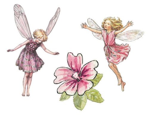Wallies Wallpaper Cutout, Enchanted Flower Fairies - Wallies Wallpaper Cut Out