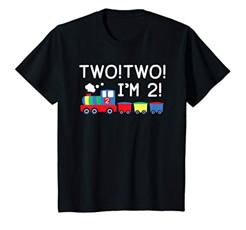 Kids Two! Two! I'm 2 Train T Shirt For 2nd Birthday Outfit