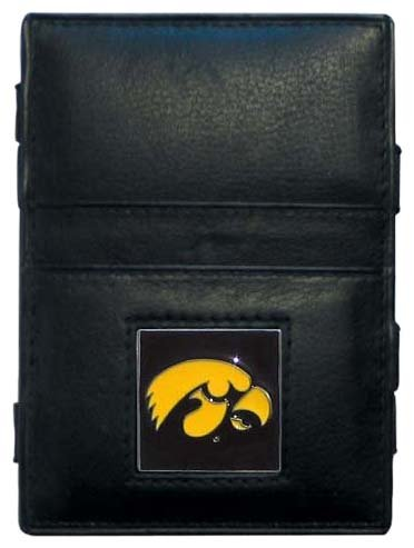 Ncaa Iowa Hawkeyes Leather Football - Siskiyou NCAA Iowa Hawkeyes Leather Jacob's Ladder Wallet