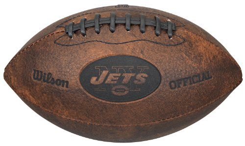 York Jets New Logo Football (NFL New York Jets Vintage Throwback Football, 9-Inches)