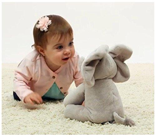 JoyJay Flappy Elephant Baby Soft Plush Toy Singing Stuffed Animated Animal Kid Doll Gift (Gray)