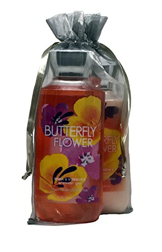 Bath & Body Works Butterfly Flower Gift Set of Shower Gel and Body Lotion