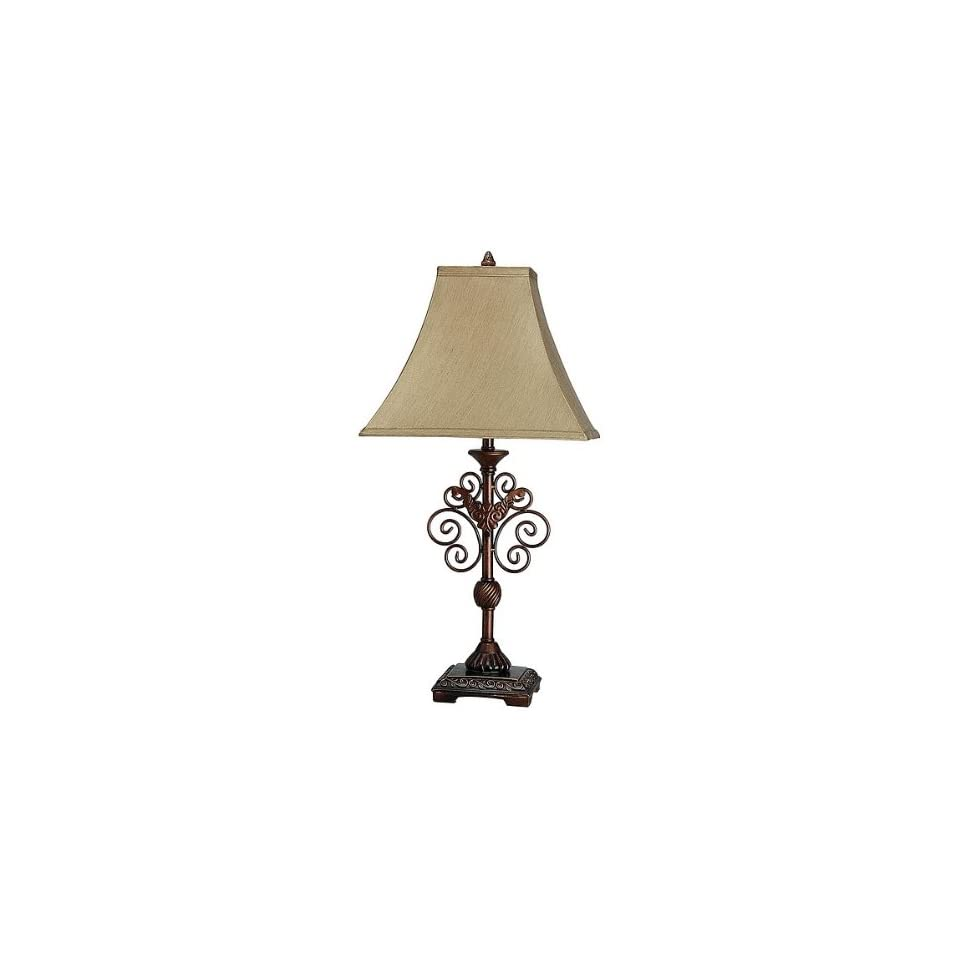 Classic Traditional Style Art Deco Fabric Shade Table Lamp