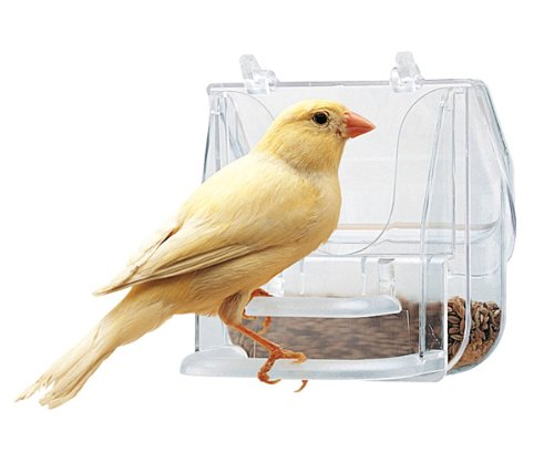 Ferplast 84522724 Pretty 4522 Gamelle pour oiseaux, dimensions : 9 x 9 x 9 cm, transparent