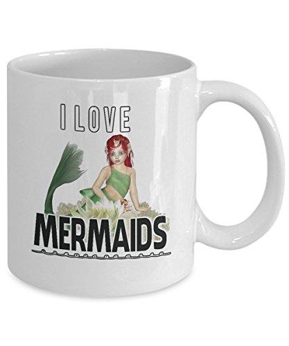 Mermaid Gifts Mug Love Mermaids White Cup Coffee