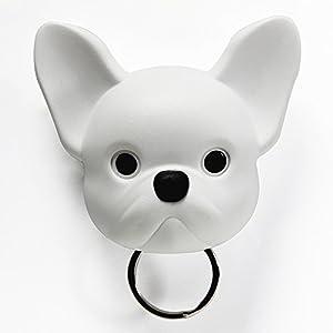 Sansukjai White French Bulldog, Frenchie , Dog, Key Holder, Wall Decor, Wall Hanging, Key Hanger, Key Hooks, Dog lover, Gift