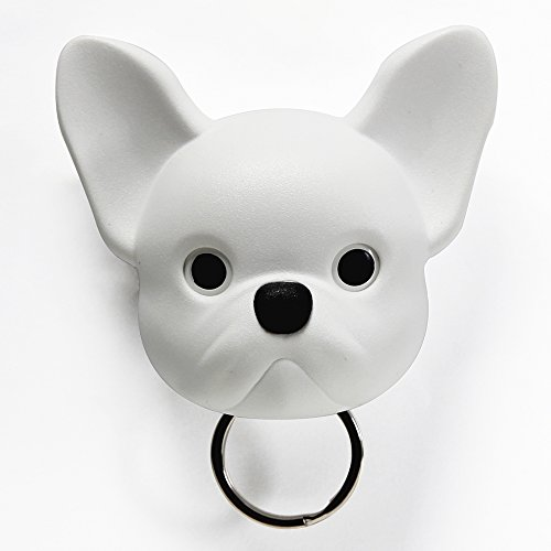 Sansukjai White French Bulldog, Frenchie , Dog, Key Holder, Wall Decor, Wall Hanging, Key Hanger, Key Hooks, Dog lover, Gift