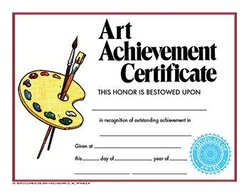 amazon com hayes 411500 style c art achievement certificate 8 1 2