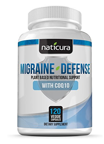 Migraine Defense Migraine Prevention Supplement - Premium Brain Support Formula with CoQ10