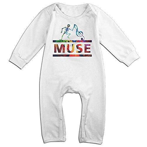 MUSE Rock Band Skull Logo Baby Onesie Bodysuit Infant Romper White 18 Months