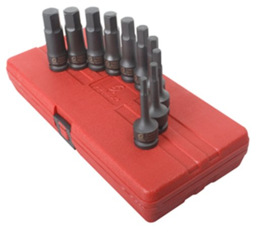Sunex 2639 1/2-Inch Drive Metric Impact Hex Driver Set, 10-Piece (International Driver Sunex)