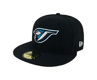 New Era 59Fifty Hat MLB Toronto Blue Jays Black Team Fitted Cap