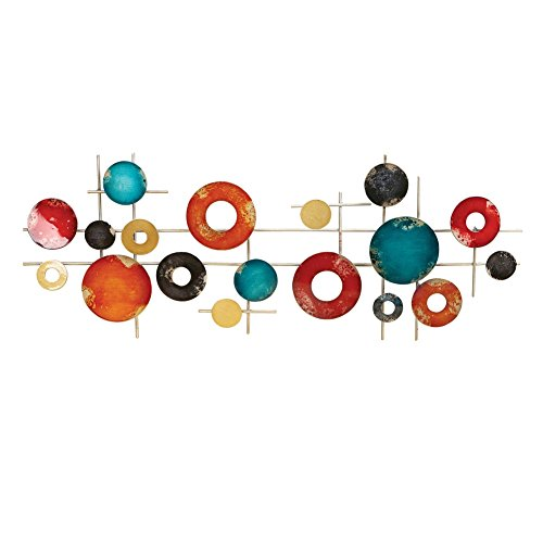 Colored Metal Circles Modern Wall Art