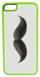 CellPowerCasesTM Hairy Mustache ChromaLuxe Green Case for iPhone 5c (5c V2 Green Case)