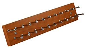 """Tie and/or Necklace Rack - 14"""" Pearwood"""
