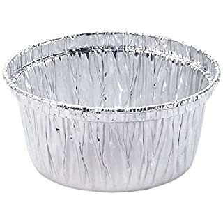 Aluminum Foil Disposable Baking Ramekins - 4 oz Utility Cup - Made in USA (Pack of 100)