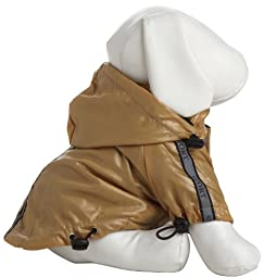 Reflecta-Sport Adjustable Reflective Weather-Proof Pet Rainbreaker Jacket, Large, Mustard Yellow